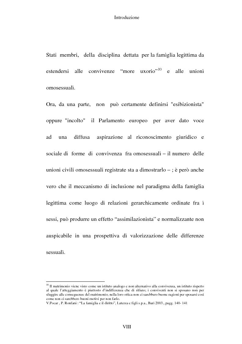 Anteprima della tesi: L'adozione per gli omosessuali tra direttiva europea e orientamento interno: esperienze a confronto, Pagina 8