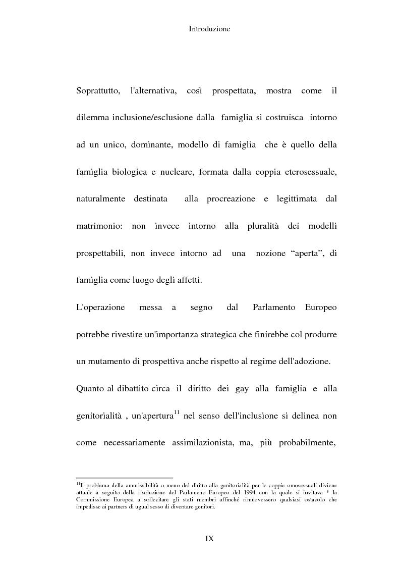 Anteprima della tesi: L'adozione per gli omosessuali tra direttiva europea e orientamento interno: esperienze a confronto, Pagina 9