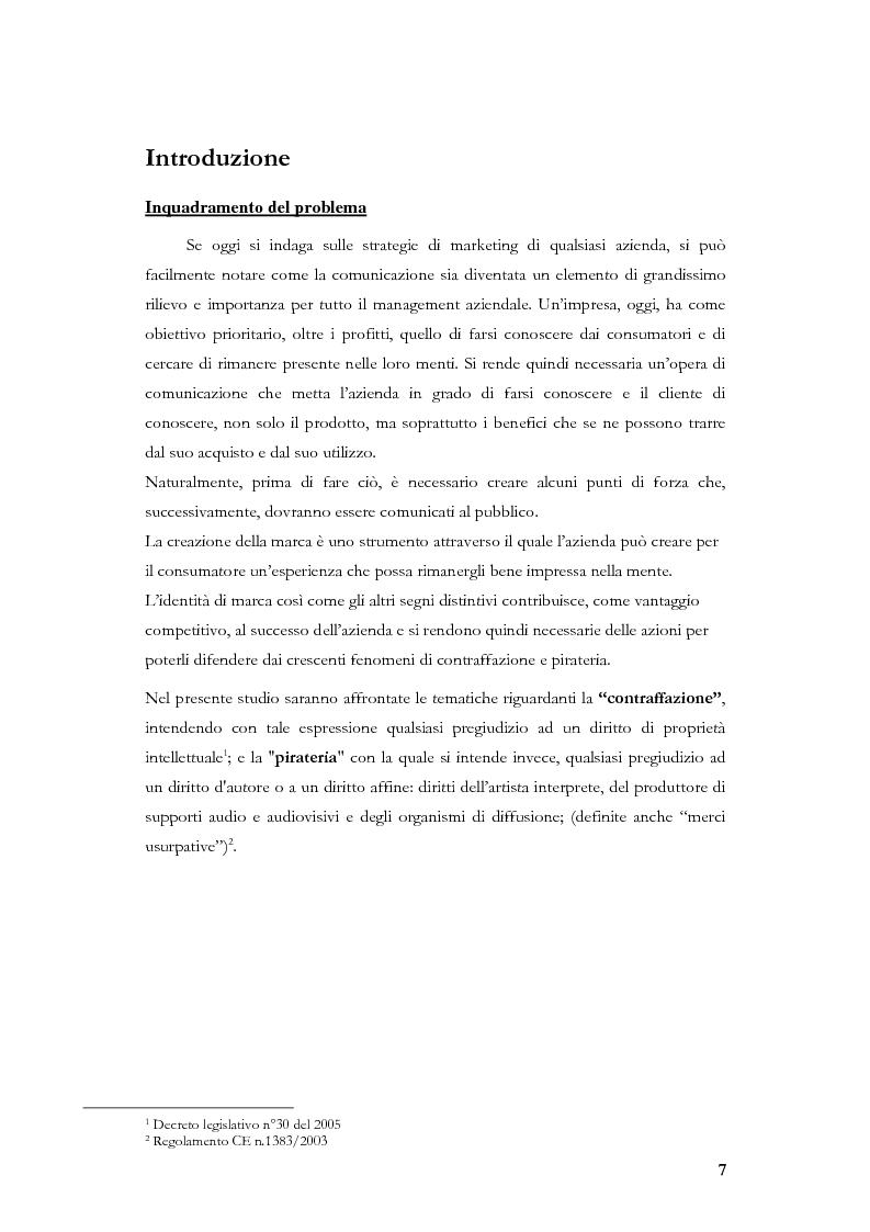 Anteprima della tesi: Marketing, contraffazione e pirateria: stato dell'arte e problemi aperti, Pagina 4