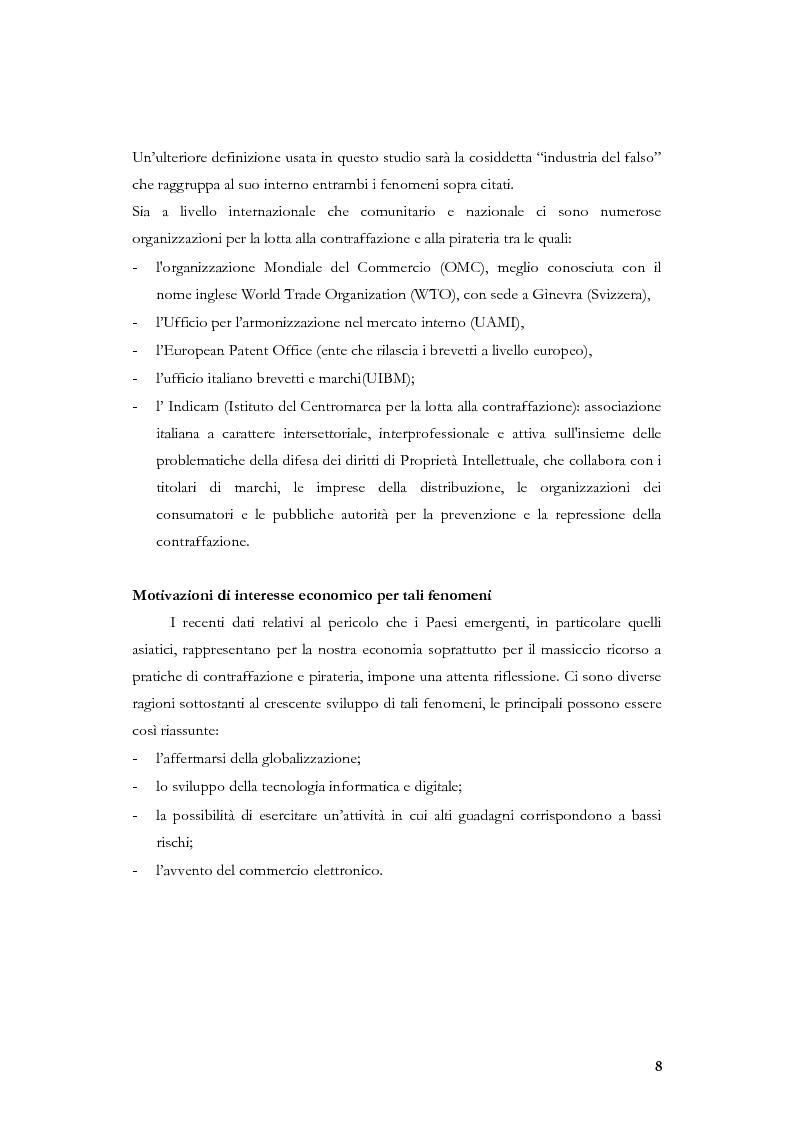 Anteprima della tesi: Marketing, contraffazione e pirateria: stato dell'arte e problemi aperti, Pagina 5