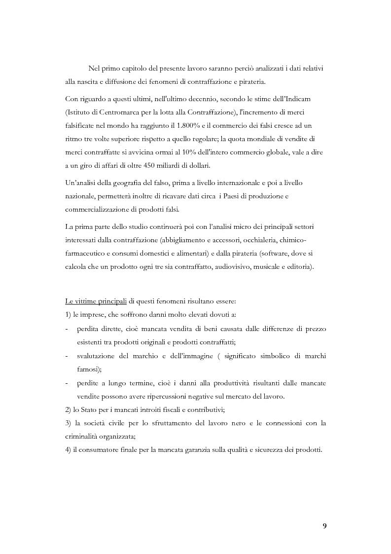 Anteprima della tesi: Marketing, contraffazione e pirateria: stato dell'arte e problemi aperti, Pagina 6