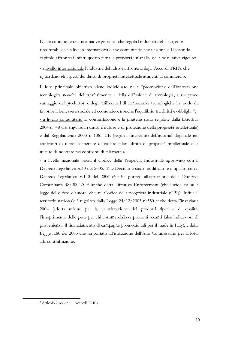 Anteprima della tesi: Marketing, contraffazione e pirateria: stato dell'arte e problemi aperti, Pagina 7