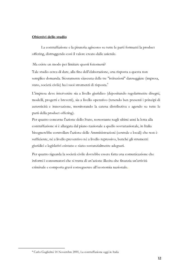Anteprima della tesi: Marketing, contraffazione e pirateria: stato dell'arte e problemi aperti, Pagina 9