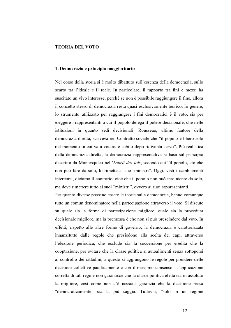 Anteprima della tesi: Teoria del voto ed istituzioni: analisi dei criteri di voto del trattato di Nizza e del trattato di Lisbona, Pagina 6