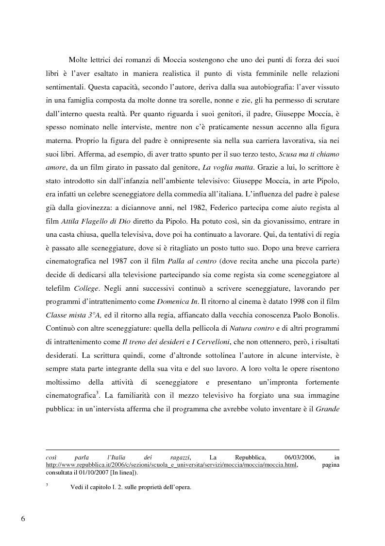 Anteprima della tesi: Il caso Federico Moccia: le ragioni di un successo che stenta a varcare i confini, Pagina 4