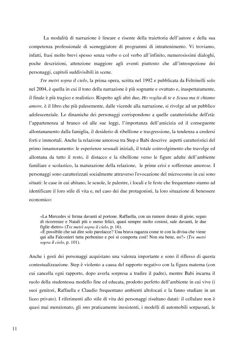 Anteprima della tesi: Il caso Federico Moccia: le ragioni di un successo che stenta a varcare i confini, Pagina 9