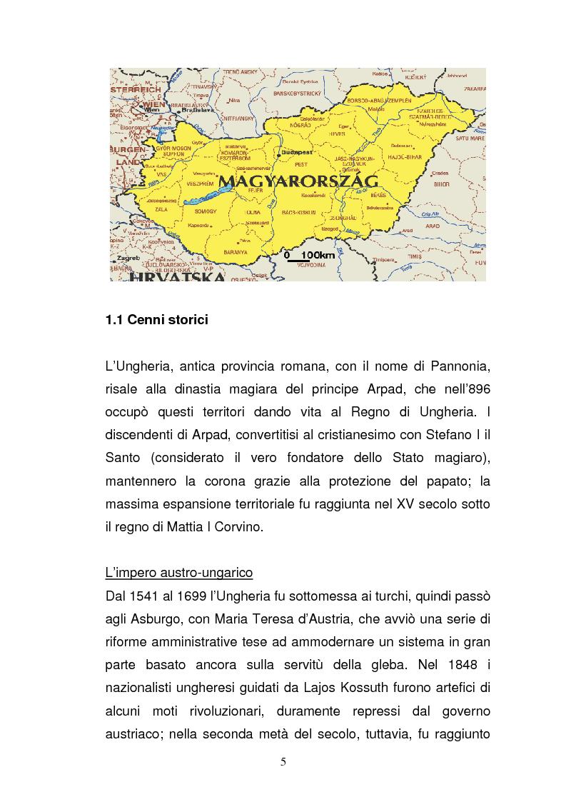 Anteprima della tesi: Lo sviluppo economico e territoriale in un paese dell'Est Europa: il caso dell'Ungheria, Pagina 4
