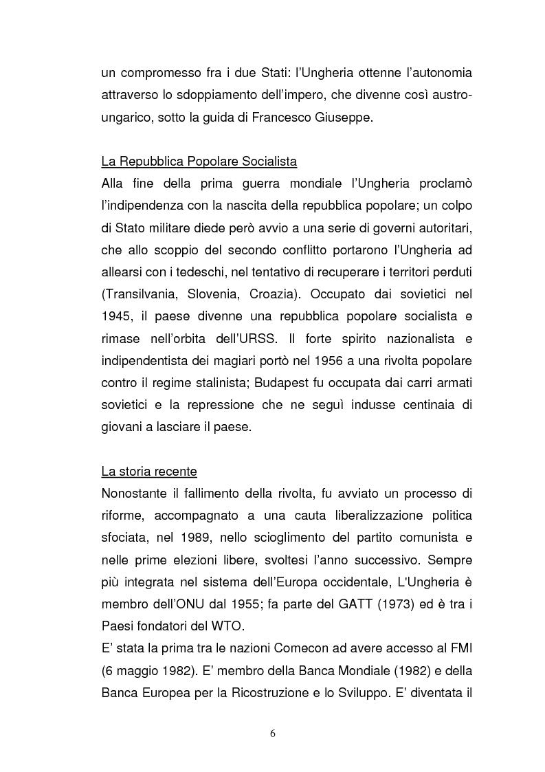 Anteprima della tesi: Lo sviluppo economico e territoriale in un paese dell'Est Europa: il caso dell'Ungheria, Pagina 5