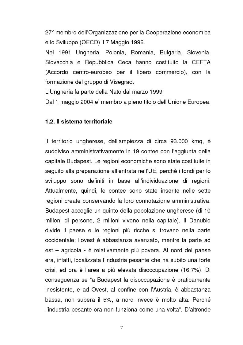 Anteprima della tesi: Lo sviluppo economico e territoriale in un paese dell'Est Europa: il caso dell'Ungheria, Pagina 6