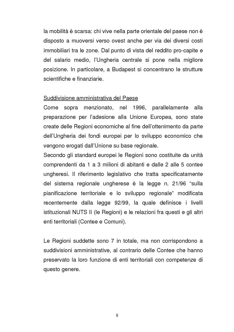 Anteprima della tesi: Lo sviluppo economico e territoriale in un paese dell'Est Europa: il caso dell'Ungheria, Pagina 7