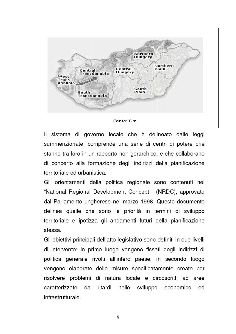 Anteprima della tesi: Lo sviluppo economico e territoriale in un paese dell'Est Europa: il caso dell'Ungheria, Pagina 8