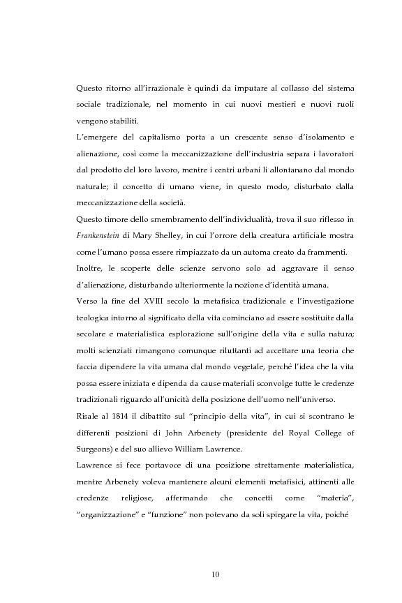 Anteprima della tesi: La figura dello scienziato stregone nella letteratura otto-novecentesca, Pagina 10