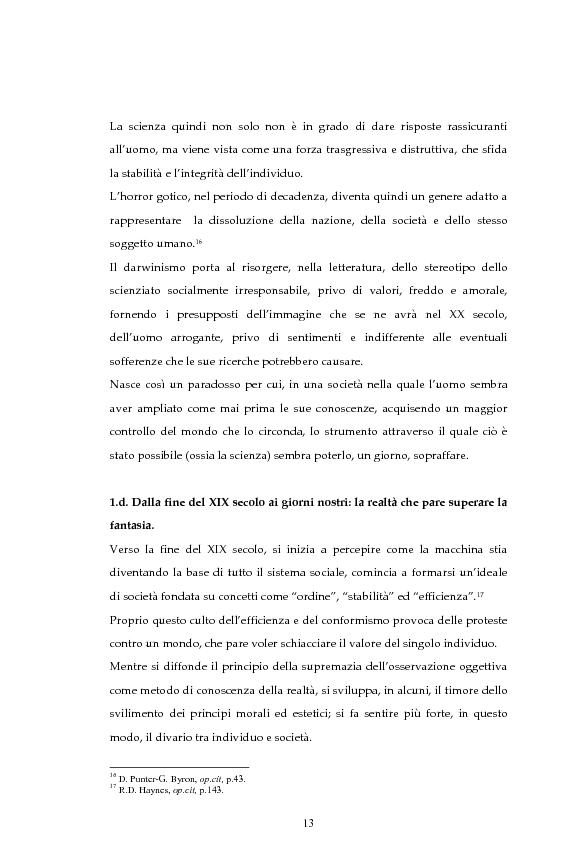 Anteprima della tesi: La figura dello scienziato stregone nella letteratura otto-novecentesca, Pagina 13
