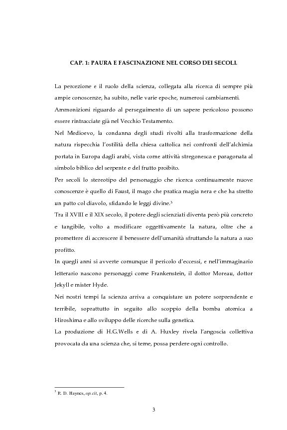 Anteprima della tesi: La figura dello scienziato stregone nella letteratura otto-novecentesca, Pagina 3