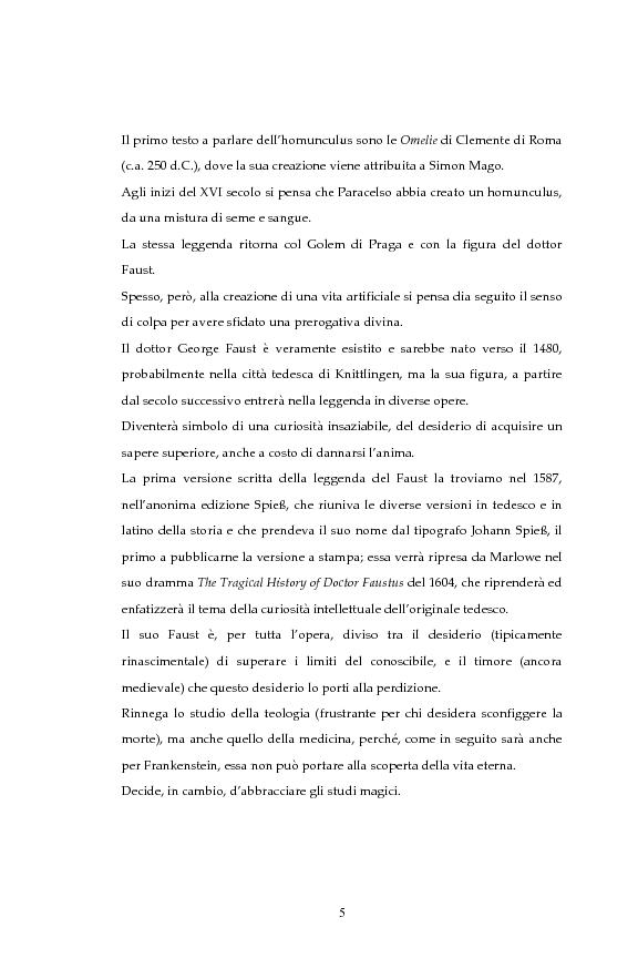 Anteprima della tesi: La figura dello scienziato stregone nella letteratura otto-novecentesca, Pagina 5