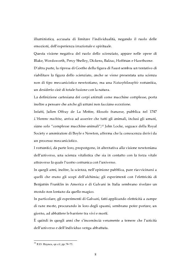 Anteprima della tesi: La figura dello scienziato stregone nella letteratura otto-novecentesca, Pagina 8