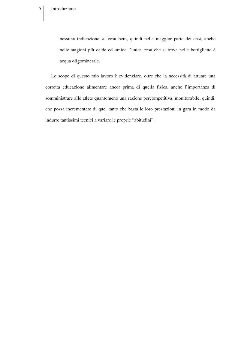 Anteprima della tesi: Carboidrati e pallavolo: la necessità del pasto percompetitivo in campionati femminili under 14 ed under 16, Pagina 3