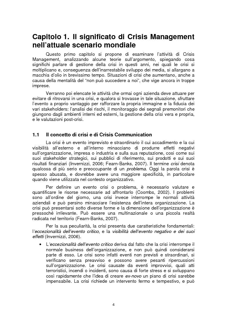 Anteprima della tesi: Il ruolo della fiducia nella gestione di crisi: il caso Mattel, Pagina 4