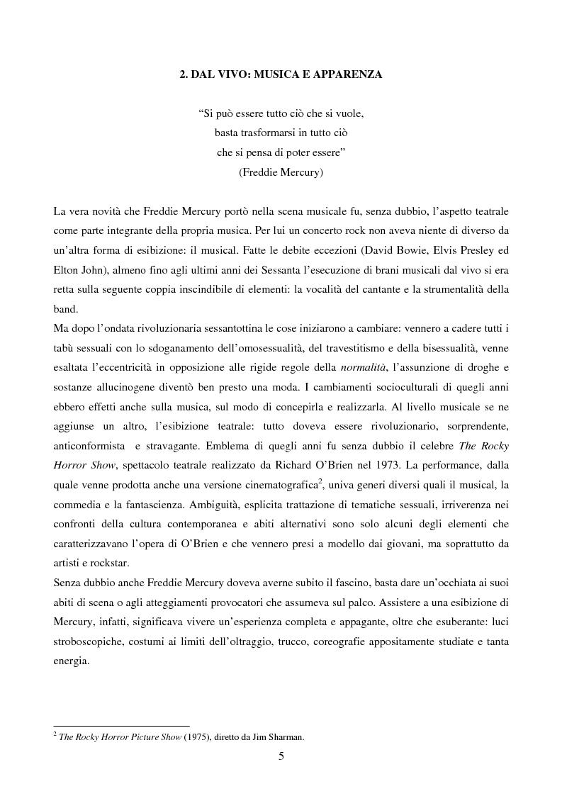 Anteprima della tesi: Freddie Mercury - Analisi sociosemiotica di una rockstar, Pagina 3