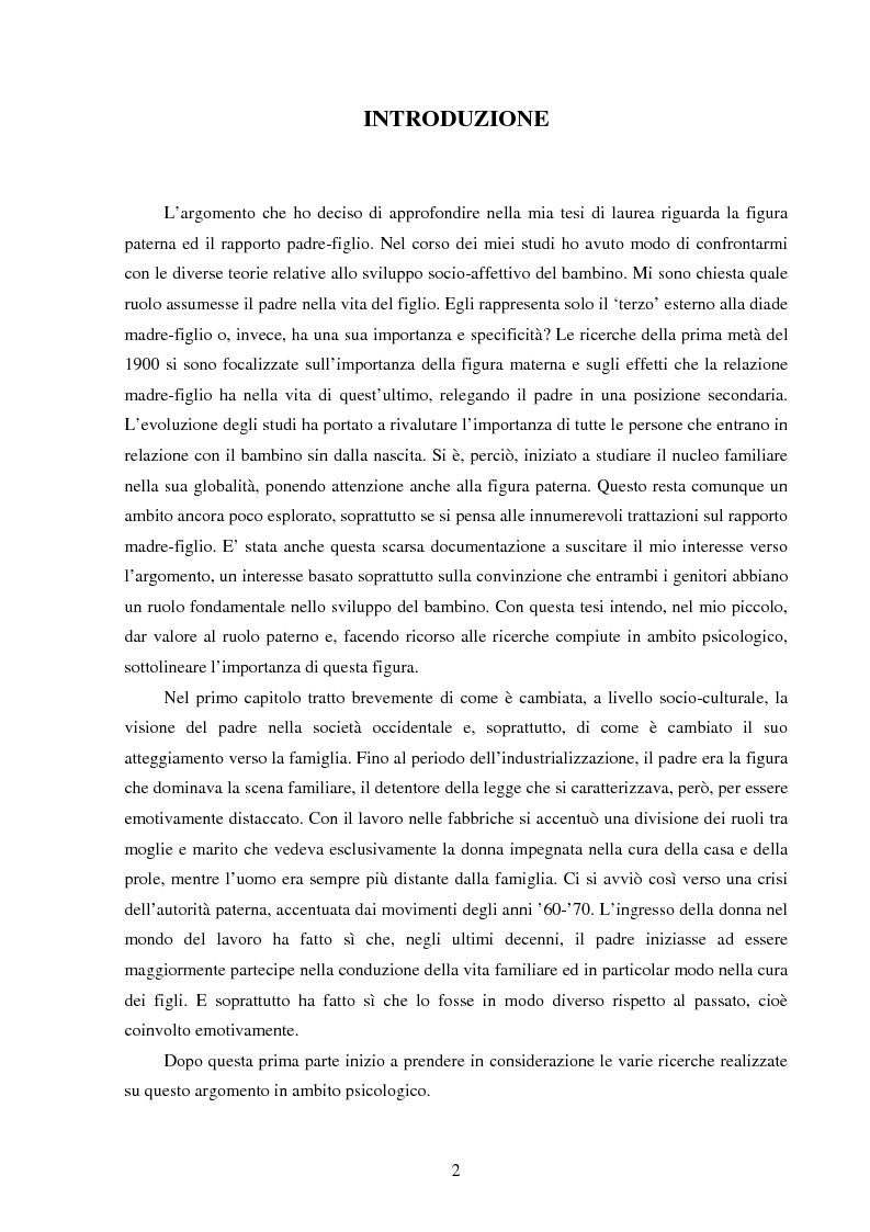 Anteprima della tesi: La figura paterna, Pagina 1