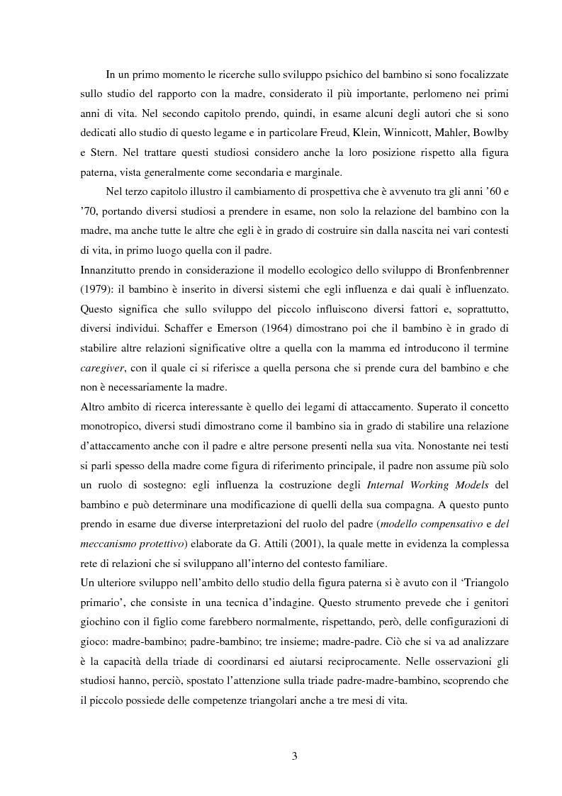 Anteprima della tesi: La figura paterna, Pagina 2