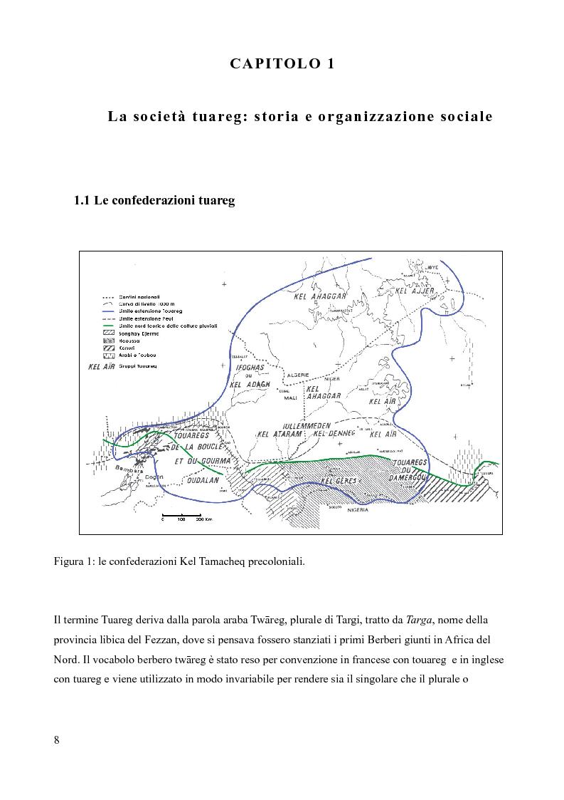 Anteprima della tesi: Tuareg: l'evoluzione storica di un popolo nomade, Pagina 3