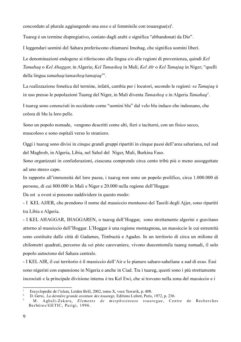 Anteprima della tesi: Tuareg: l'evoluzione storica di un popolo nomade, Pagina 4