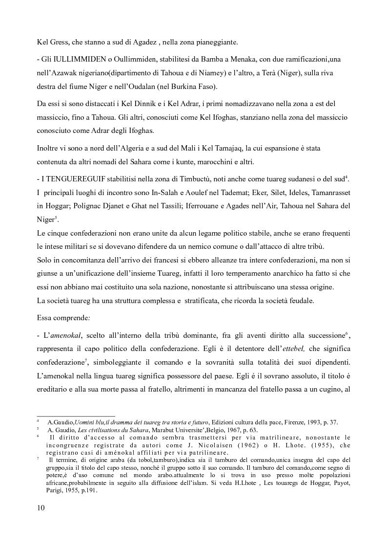 Anteprima della tesi: Tuareg: l'evoluzione storica di un popolo nomade, Pagina 5