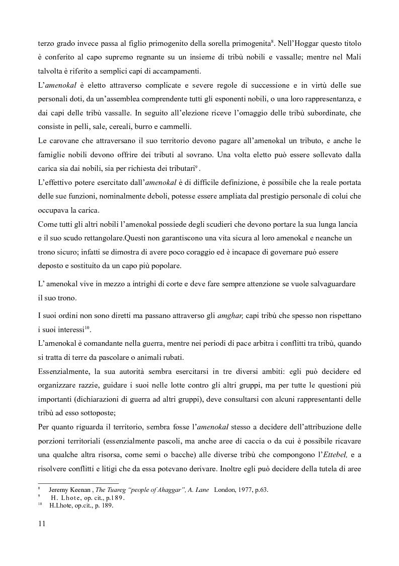 Anteprima della tesi: Tuareg: l'evoluzione storica di un popolo nomade, Pagina 6