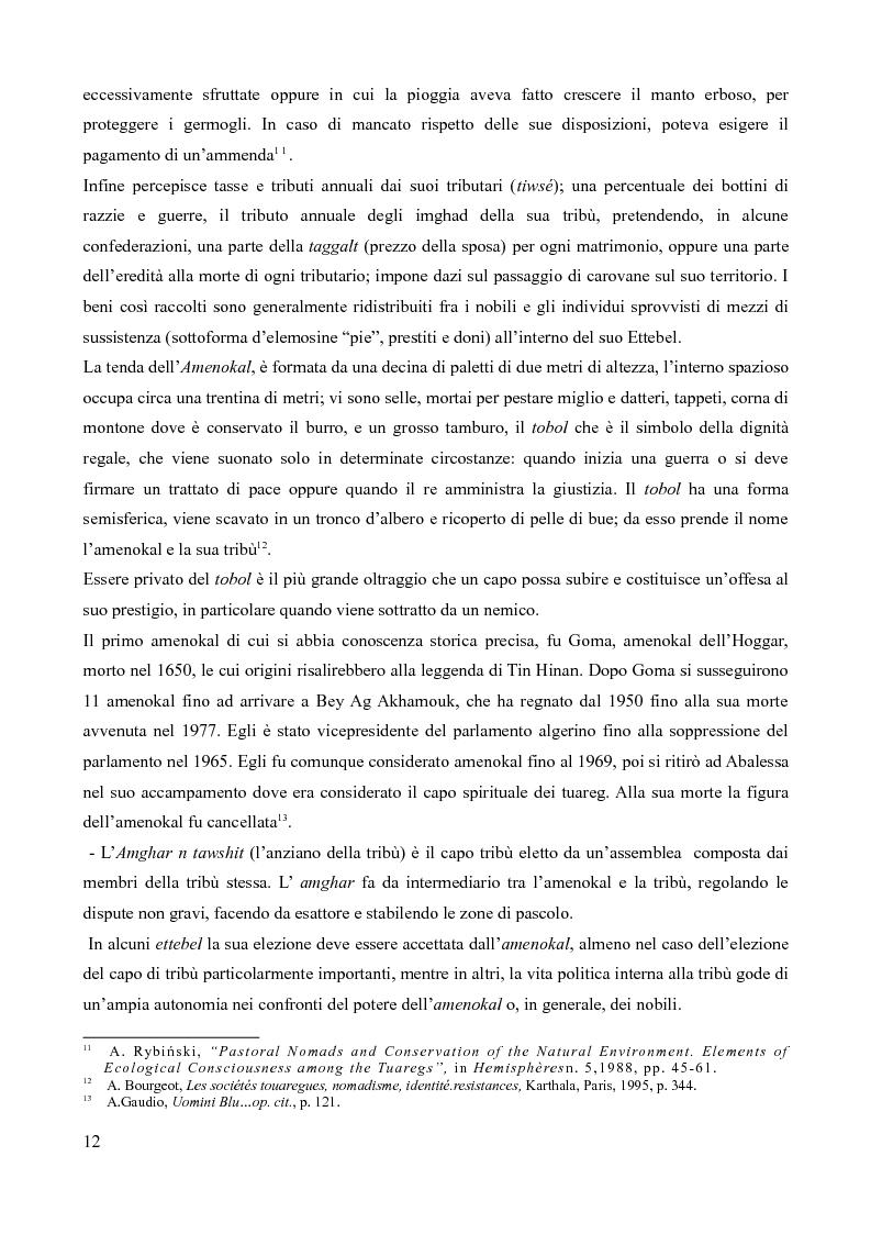 Anteprima della tesi: Tuareg: l'evoluzione storica di un popolo nomade, Pagina 7