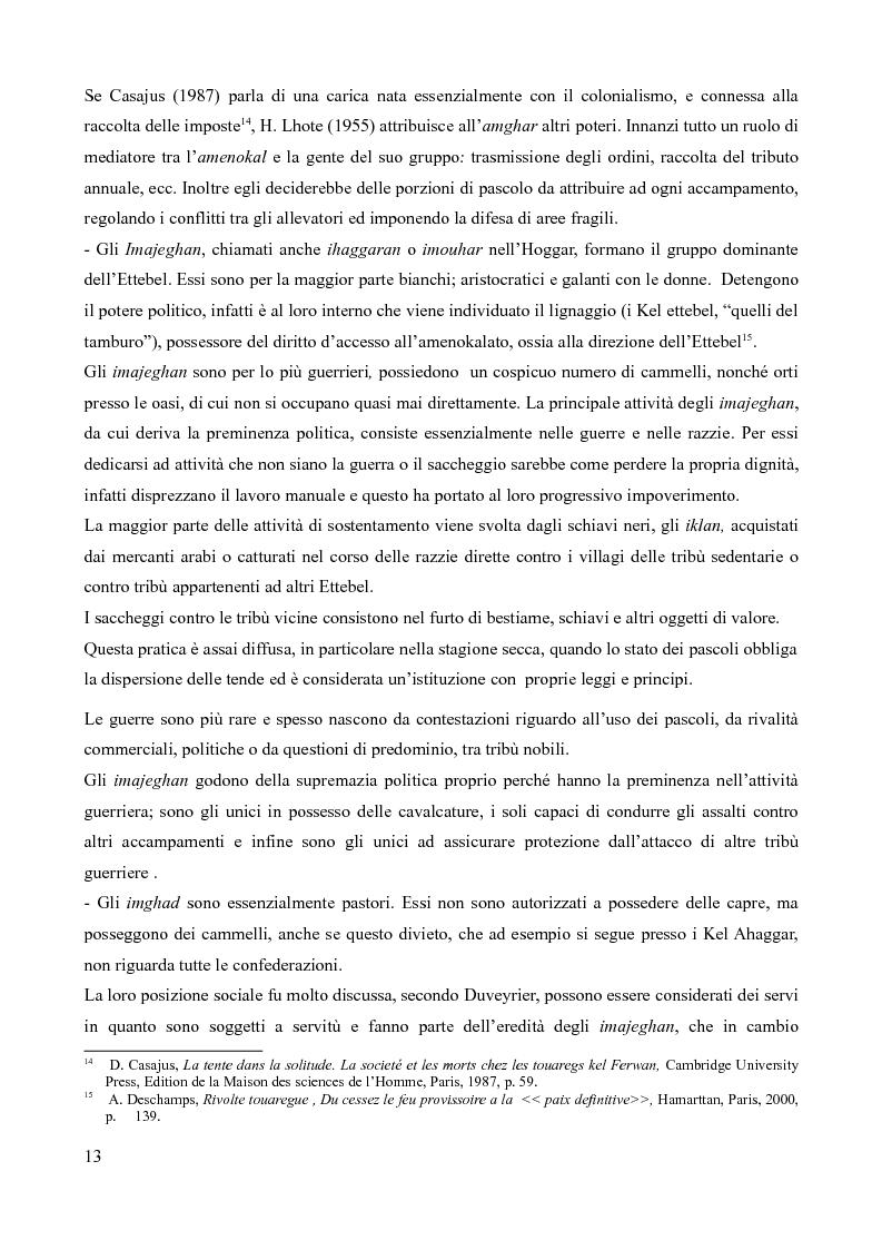 Anteprima della tesi: Tuareg: l'evoluzione storica di un popolo nomade, Pagina 8