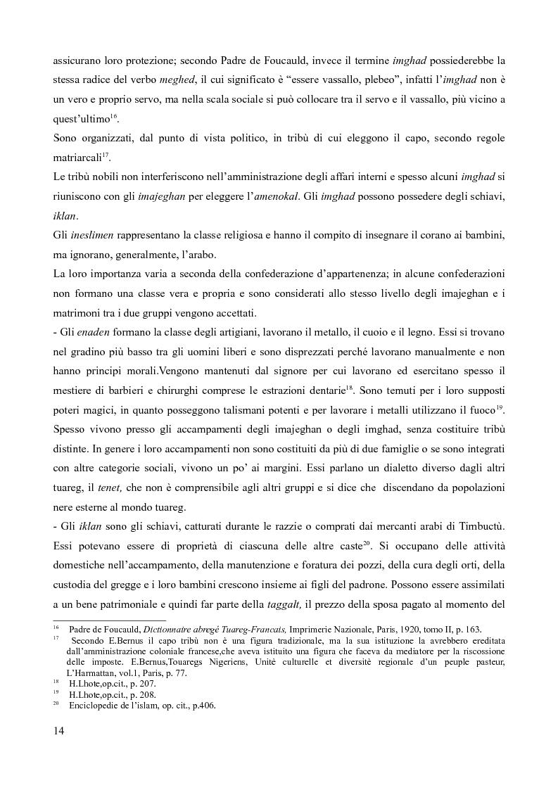 Anteprima della tesi: Tuareg: l'evoluzione storica di un popolo nomade, Pagina 9