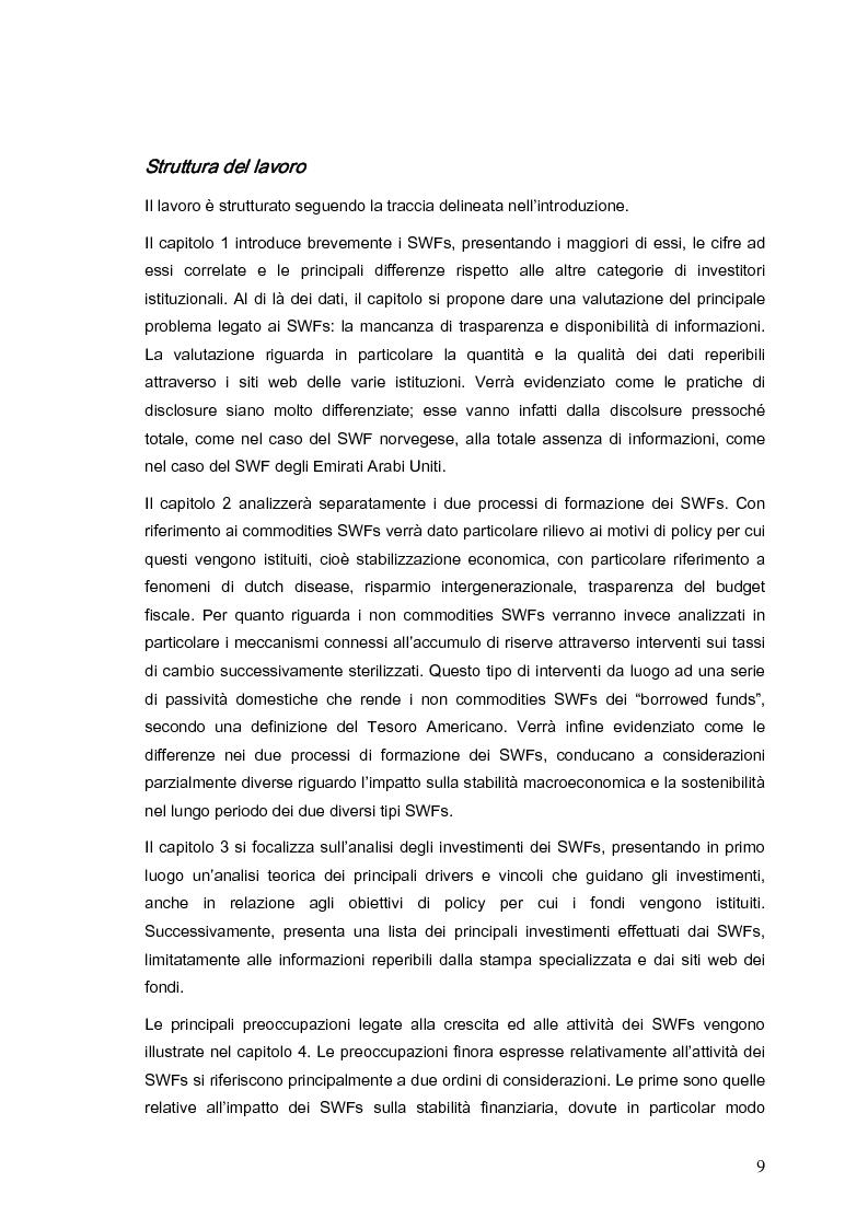 Anteprima della tesi: Gli investimenti dei Sovereign Wealth Funds: prospettive per Unione Europea e Stati Uniti, Pagina 4