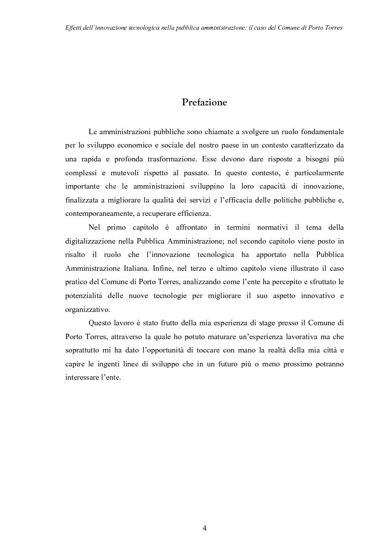 Anteprima della tesi: Effetti dell'innovazione tecnologica nella pubblica amministrazione: il caso del comune di Porto Torres, Pagina 1