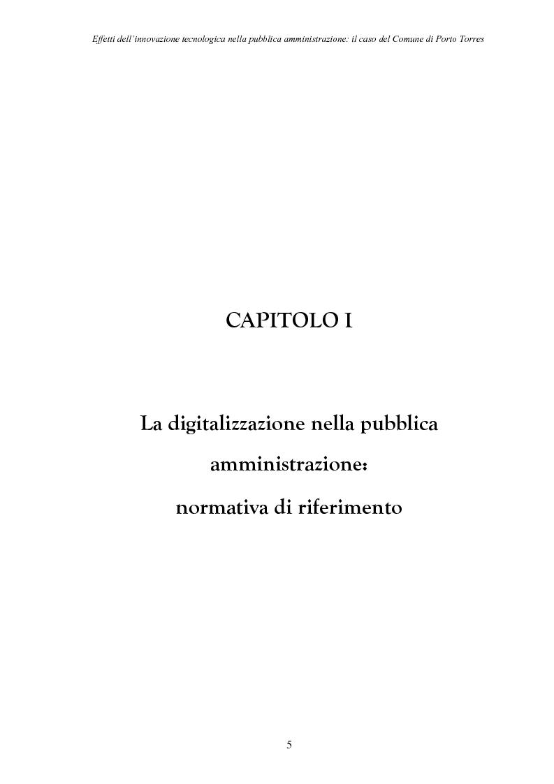 Anteprima della tesi: Effetti dell'innovazione tecnologica nella pubblica amministrazione: il caso del comune di Porto Torres, Pagina 2