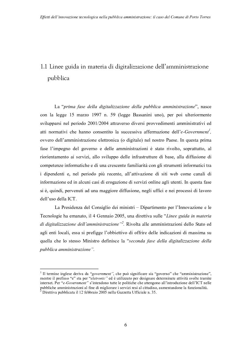 Anteprima della tesi: Effetti dell'innovazione tecnologica nella pubblica amministrazione: il caso del comune di Porto Torres, Pagina 3