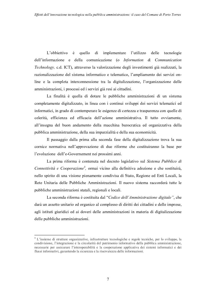 Anteprima della tesi: Effetti dell'innovazione tecnologica nella pubblica amministrazione: il caso del comune di Porto Torres, Pagina 4