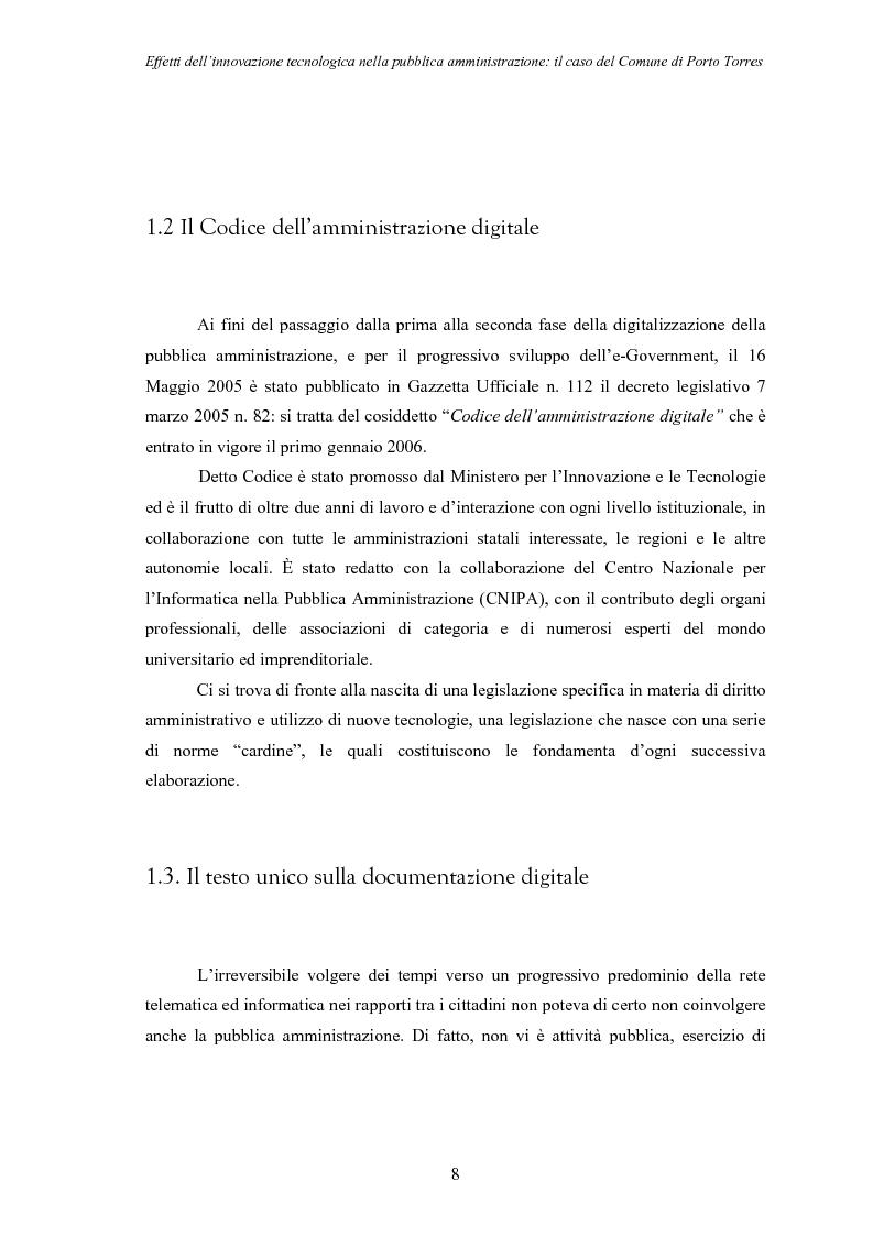 Anteprima della tesi: Effetti dell'innovazione tecnologica nella pubblica amministrazione: il caso del comune di Porto Torres, Pagina 5