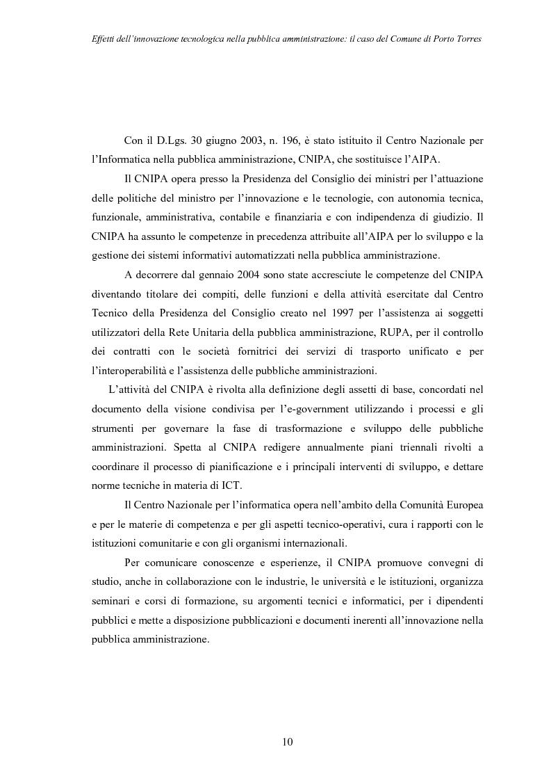 Anteprima della tesi: Effetti dell'innovazione tecnologica nella pubblica amministrazione: il caso del comune di Porto Torres, Pagina 7