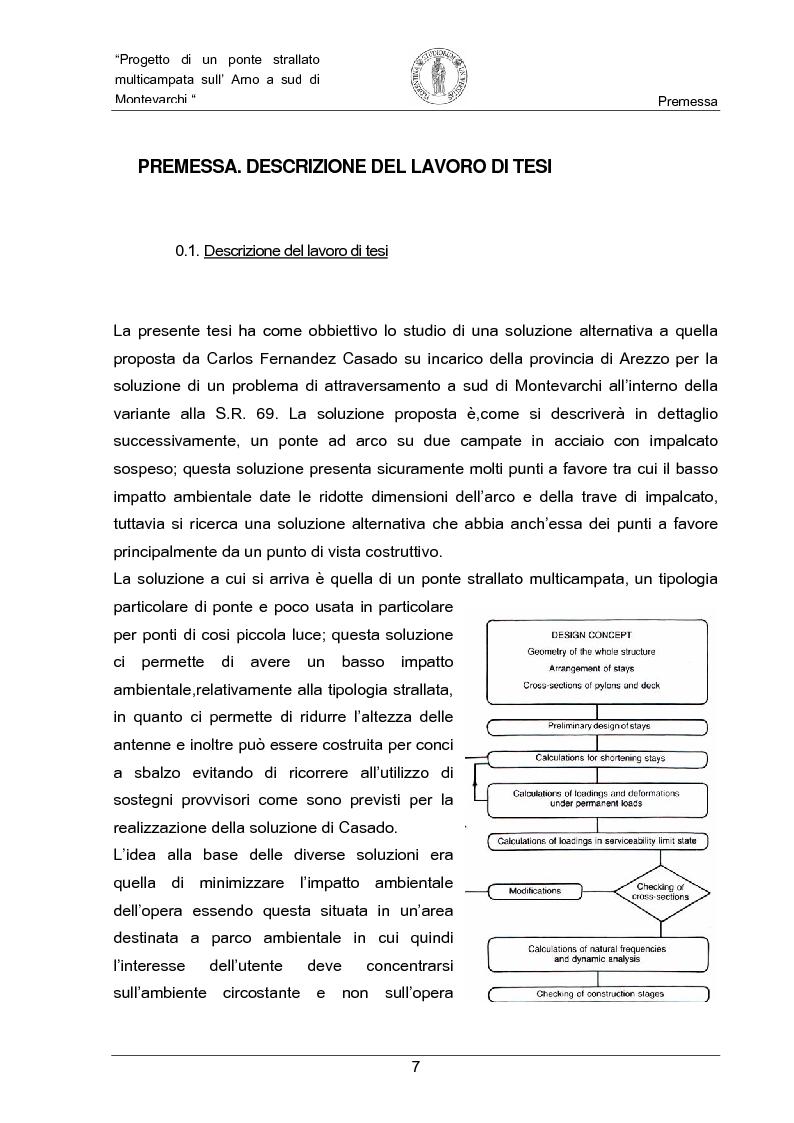 Anteprima della tesi: Progetto di un ponte strallato multicampata sull'Arno a nord di Montevarchi (AR), Pagina 1
