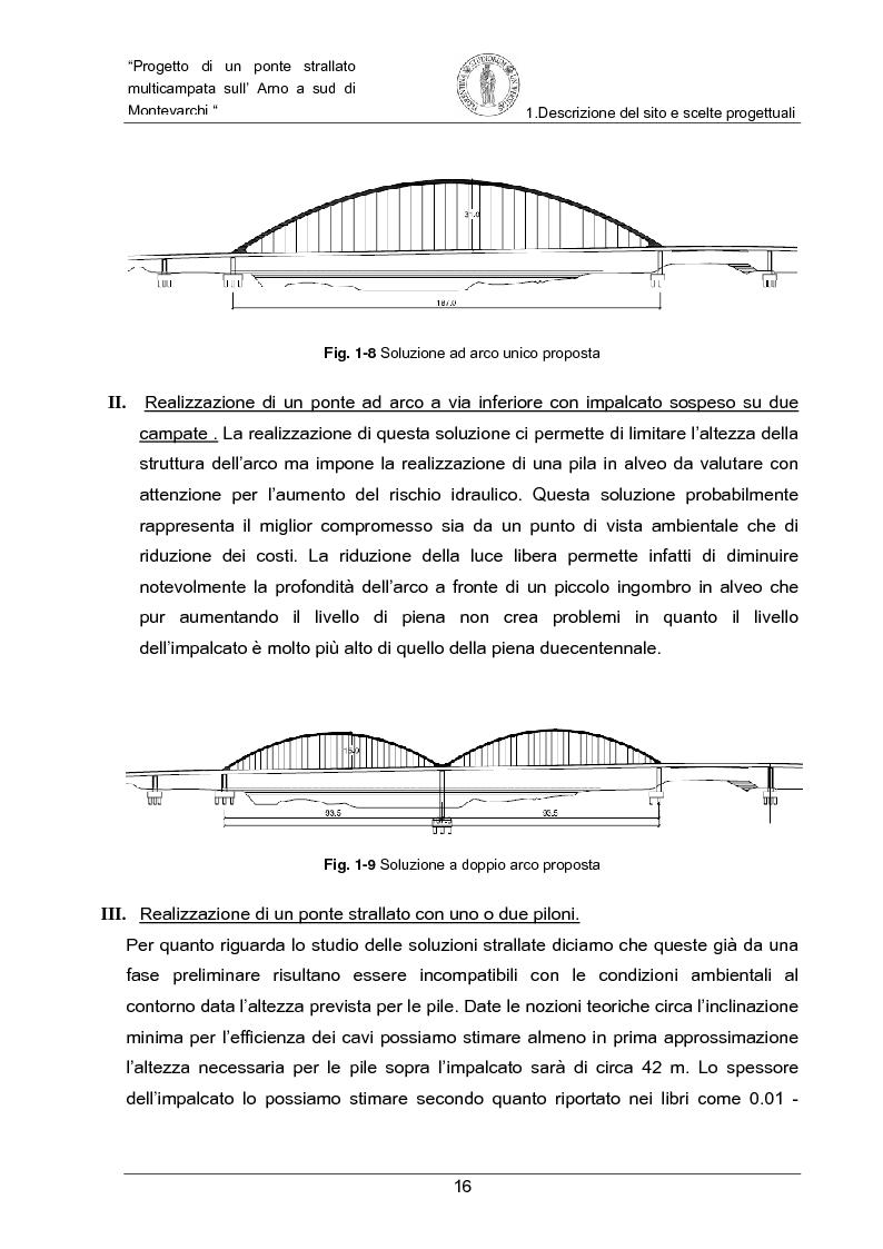Anteprima della tesi: Progetto di un ponte strallato multicampata sull'Arno a nord di Montevarchi (AR), Pagina 10