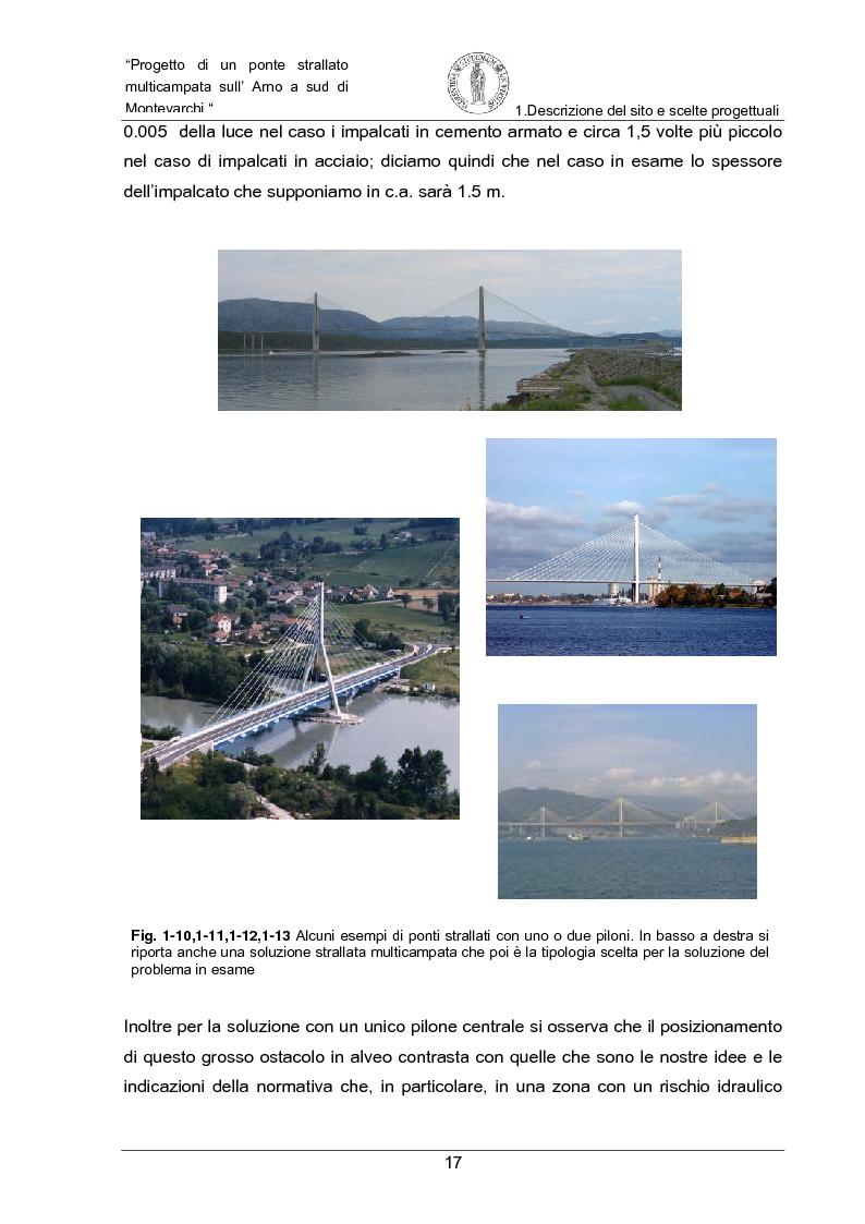 Anteprima della tesi: Progetto di un ponte strallato multicampata sull'Arno a nord di Montevarchi (AR), Pagina 11