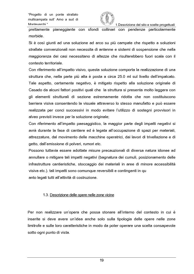 Anteprima della tesi: Progetto di un ponte strallato multicampata sull'Arno a nord di Montevarchi (AR), Pagina 13