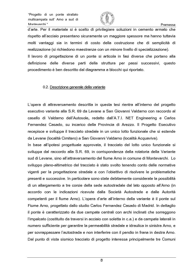 Anteprima della tesi: Progetto di un ponte strallato multicampata sull'Arno a nord di Montevarchi (AR), Pagina 2
