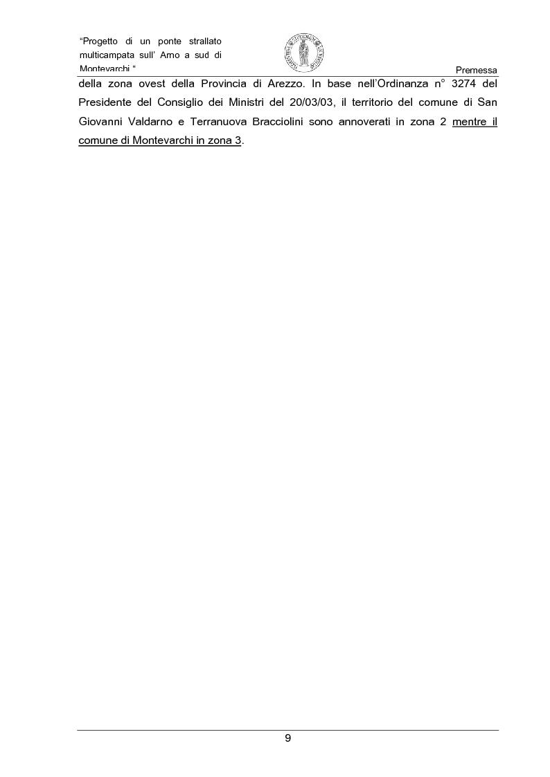 Anteprima della tesi: Progetto di un ponte strallato multicampata sull'Arno a nord di Montevarchi (AR), Pagina 3
