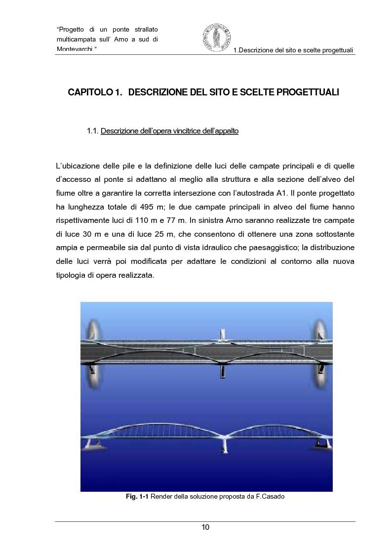 Anteprima della tesi: Progetto di un ponte strallato multicampata sull'Arno a nord di Montevarchi (AR), Pagina 4