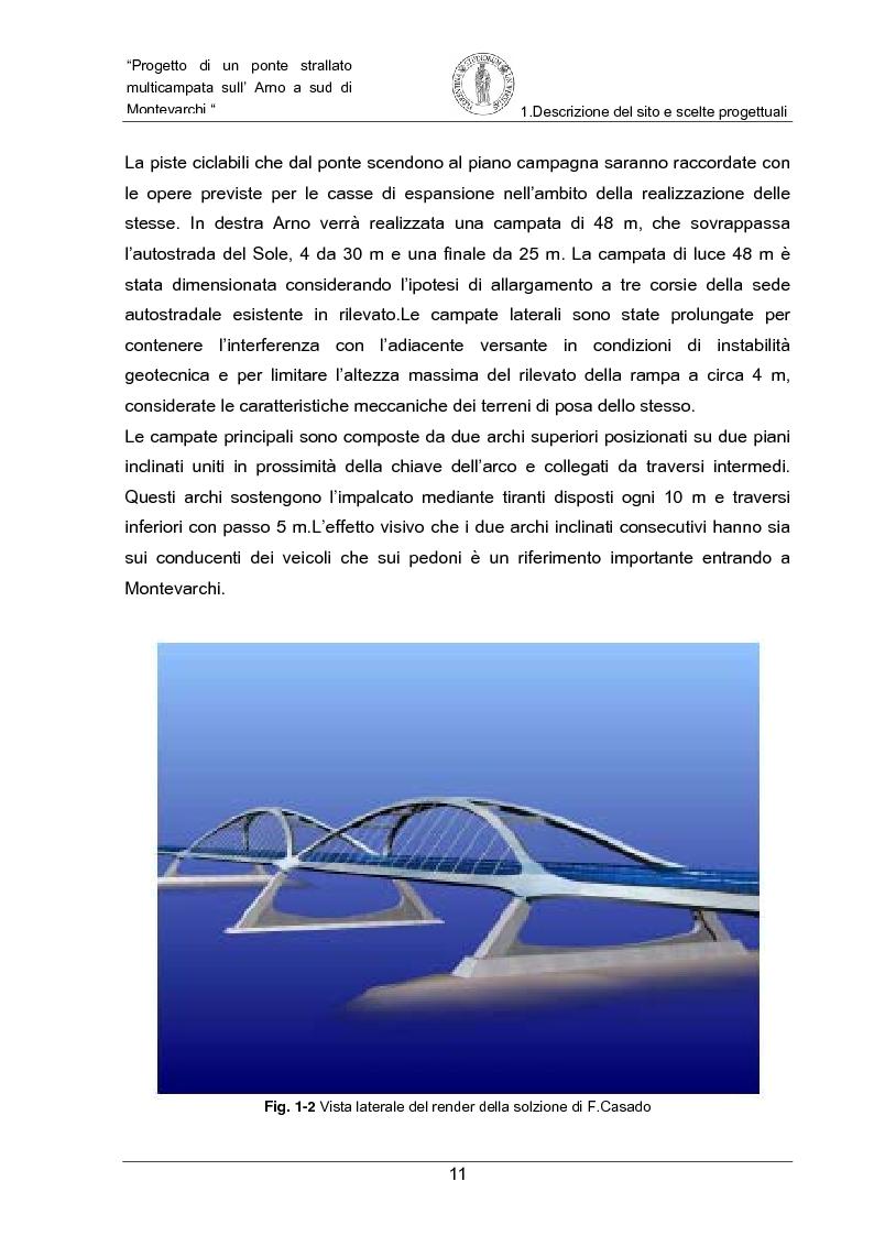 Anteprima della tesi: Progetto di un ponte strallato multicampata sull'Arno a nord di Montevarchi (AR), Pagina 5
