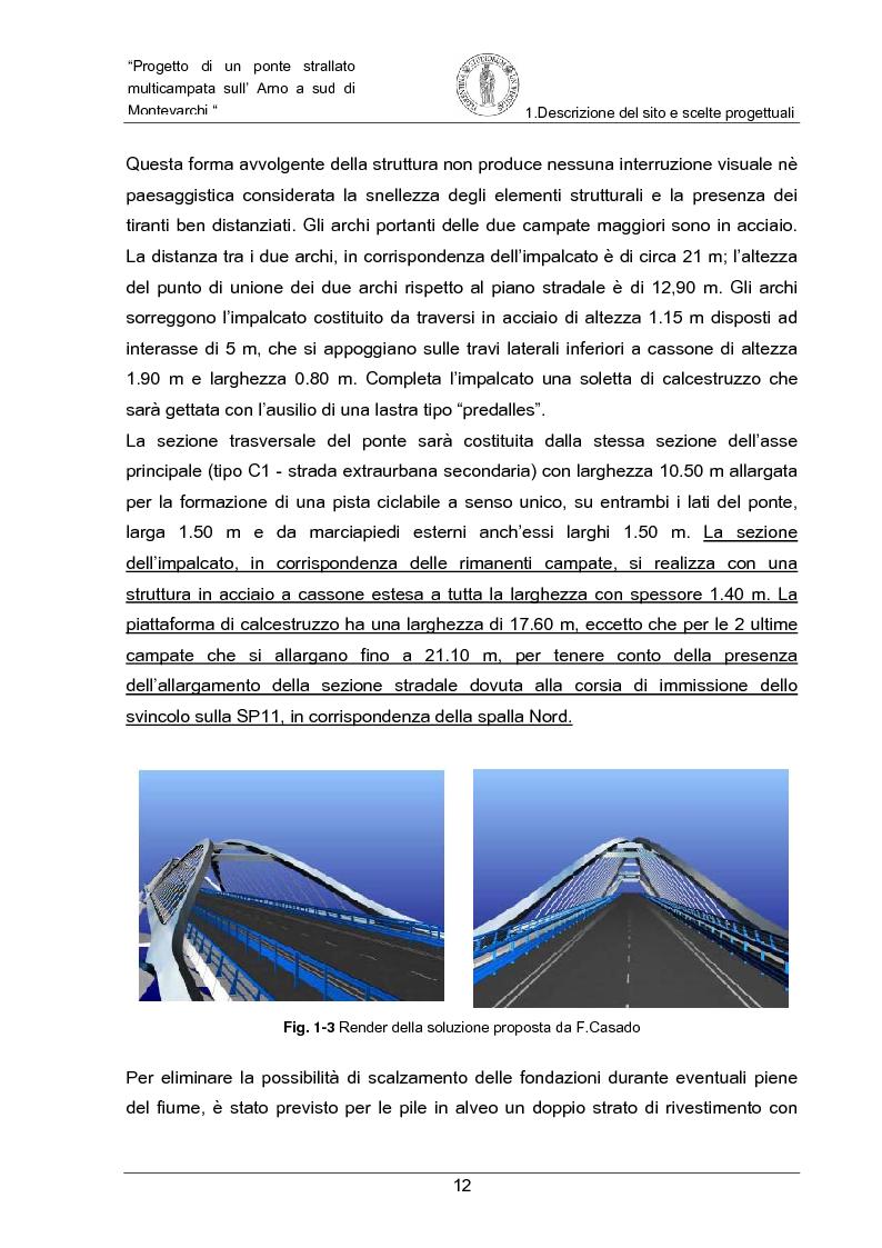 Anteprima della tesi: Progetto di un ponte strallato multicampata sull'Arno a nord di Montevarchi (AR), Pagina 6