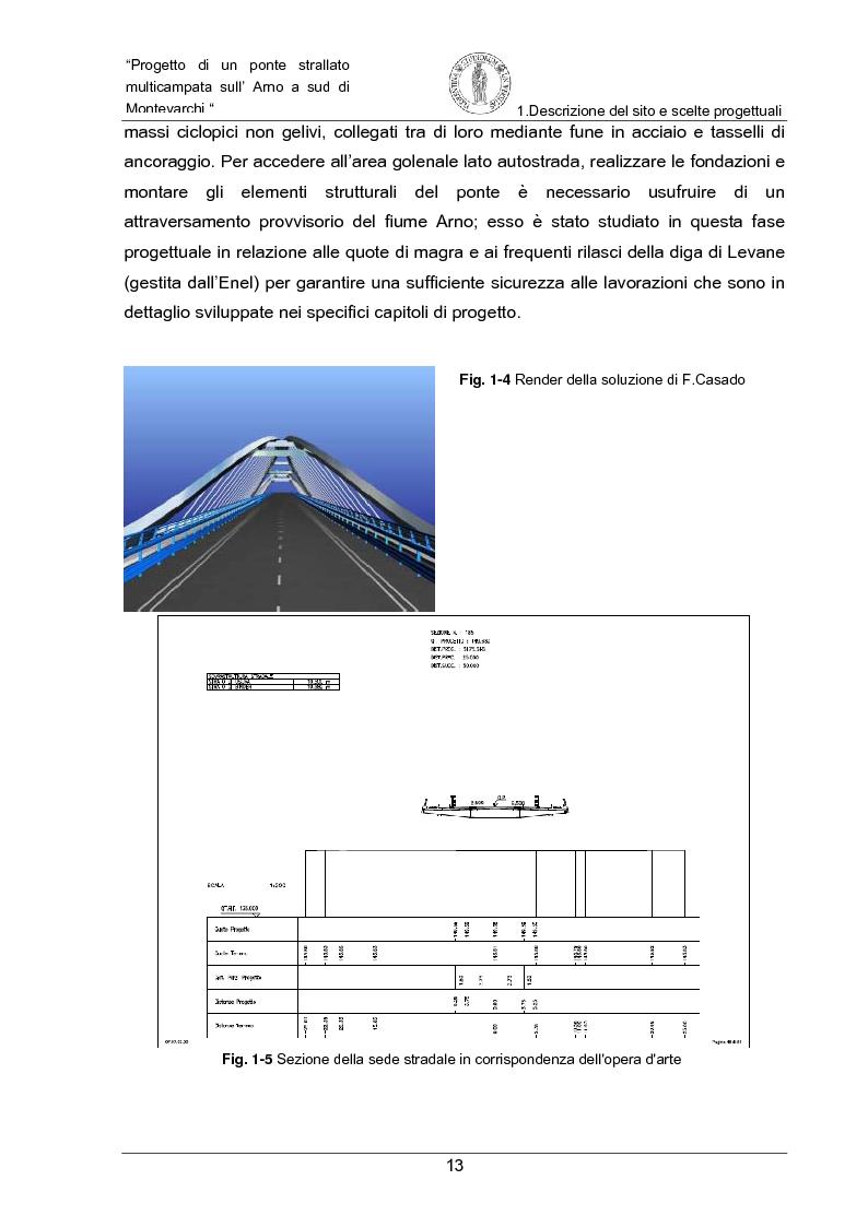 Anteprima della tesi: Progetto di un ponte strallato multicampata sull'Arno a nord di Montevarchi (AR), Pagina 7