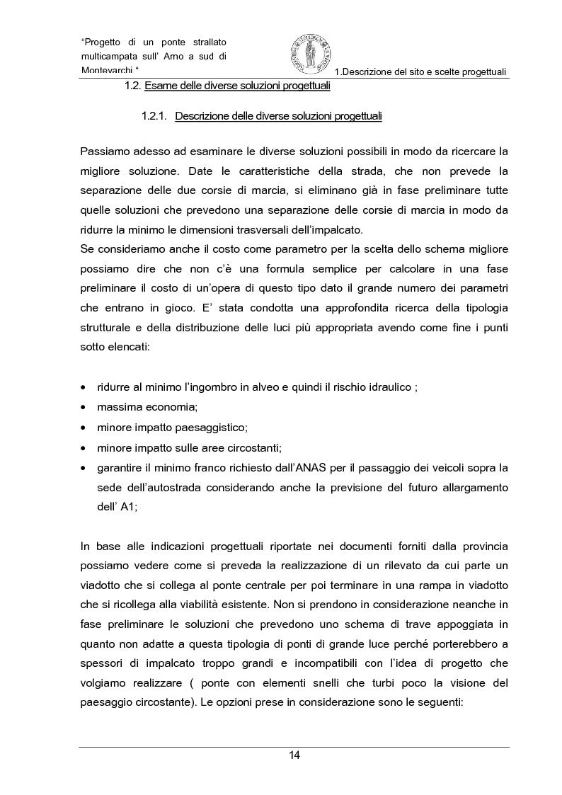 Anteprima della tesi: Progetto di un ponte strallato multicampata sull'Arno a nord di Montevarchi (AR), Pagina 8